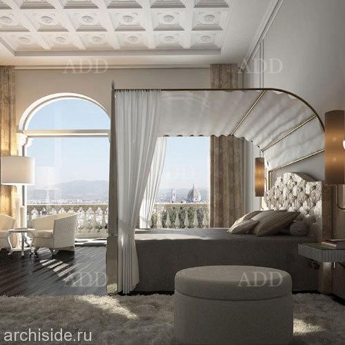 кровать с балдахином арт805 Florence Collections италия купить